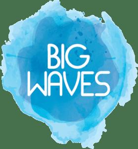 Big Waves logo watercolour