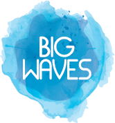 Big Waves logo watercolour